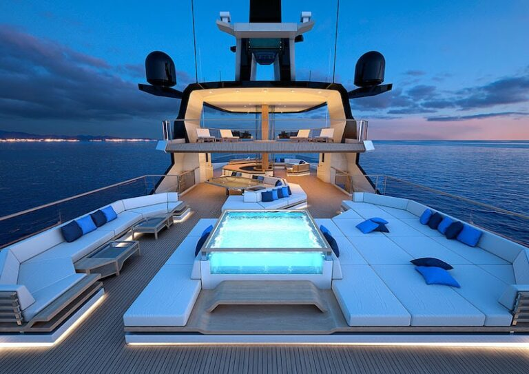 superyachts vanguard hydro tech explorer night view