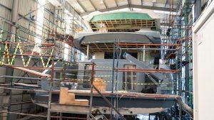 M/Y Infinity Nine Under Construction Ava Yachts
