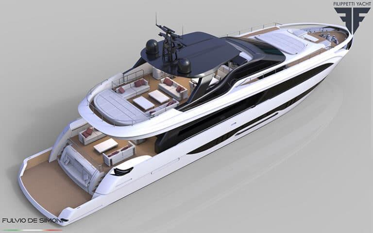 yacht dall'alto